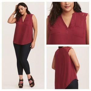 🆕 Torrid Harper Berry Georgette Pullover Size 0